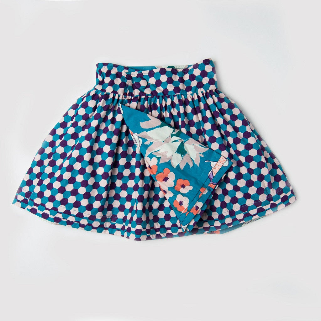 Koi Reversible Dirndl Wrap Skirt