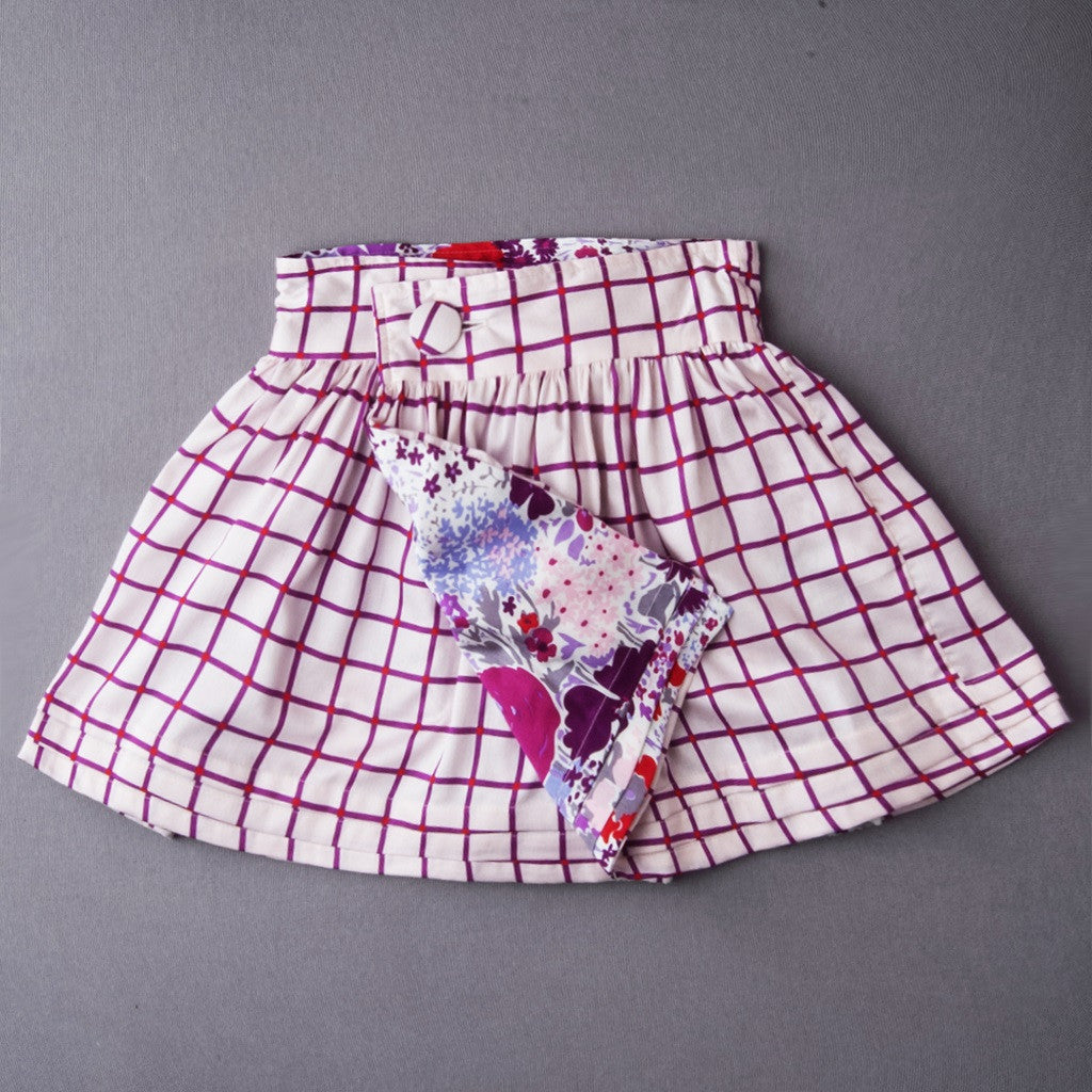 Vineyard Reversible Dirndl Wrap Skirt