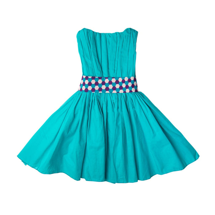 Teal Hive Degas Dress