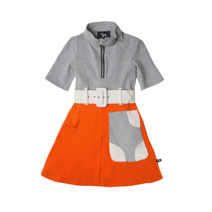 Gray Orange Dagmar Marsha Marsha Marsha Dress