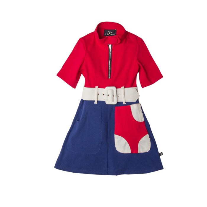 Blue Red DeStijl Marsha Marsha Marsha Dress