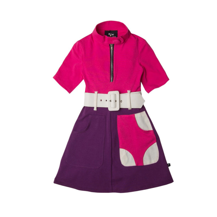 Pink Purple Hunch Punch Marsha Marsha Marsha Dress