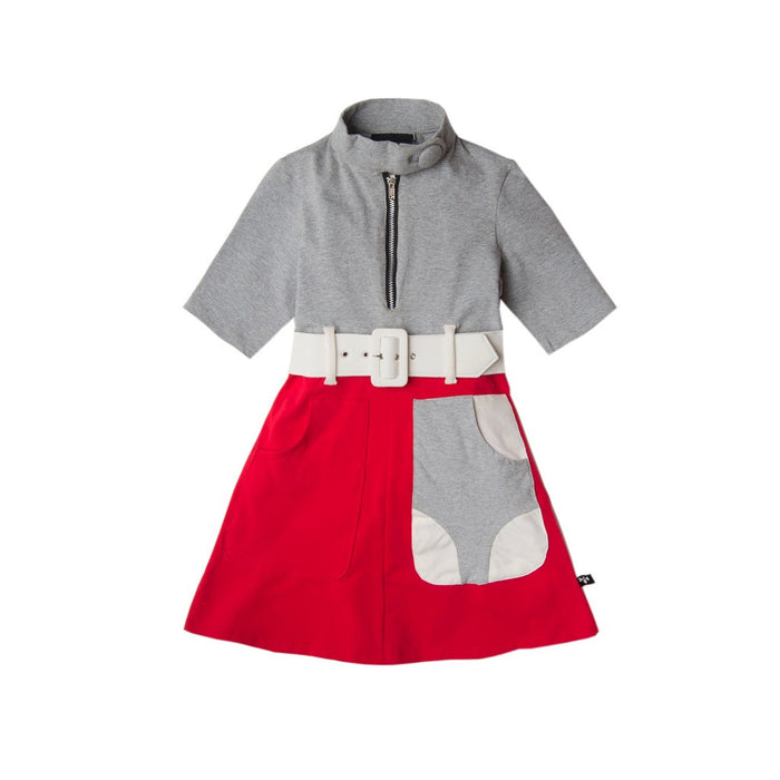 Red Gray West 53rd Marsha Marsha Marsha Dress