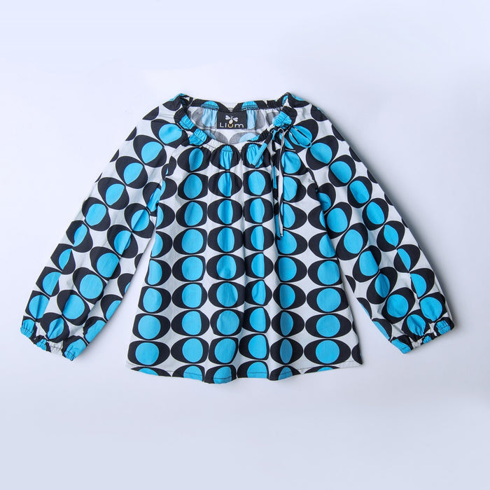 Electric Eye Peasant Blouse