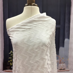 Milk Chevron Jacquard