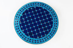 Teal And Blue Moroccan Mosaic Garden Table