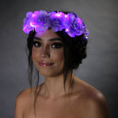 4 Pack Light Up Flower Crowns-LittleLightLab