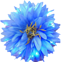 "Blue Light Up Glowing Hair Flower (5"")-LittleLightLab"
