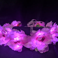 Light Up Flower Crown Pink-LittleLightLab