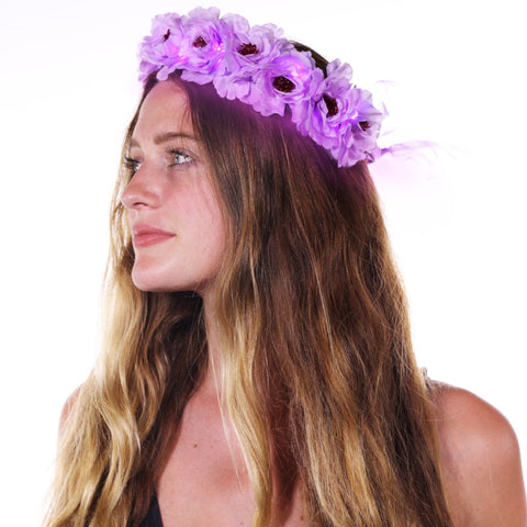 Light Up Flower Crown Purple-LittleLightLab