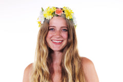 Light Up Flower Crown - Yellow-LittleLightLab