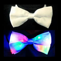 Party Pack (Pack of 10) Light Up Bowties White with Multicolor LEDs-LittleLightLab