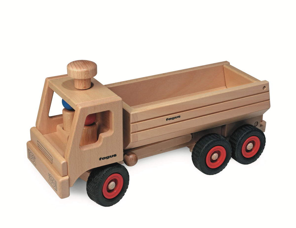 "Fagus Wooden Container Tipper Dump Truck (Large 15-3/4"")"