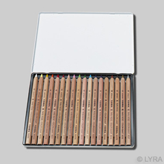 Lyra Color-Giants Unlacquered Colored Pencils in Tin Case - challenge and fun natural toys - 2