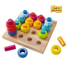 Haba Rainbow Whirls Pegging Game - challenge and fun natural toys - 1