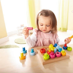 Haba Rainbow Whirls Pegging Game - challenge and fun natural toys - 2