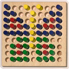 Haba Colorful Peg Board Set - challenge and fun natural toys - 2