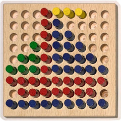 Haba Colorful Peg Board Set - challenge and fun natural toys - 3