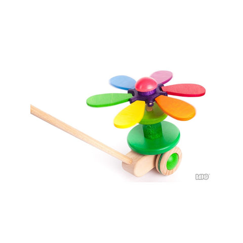 Flower Rainbow Push Toy - challenge and fun natural toys - 1