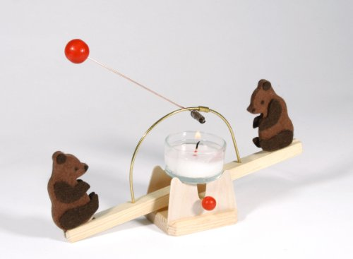 Kraul Candle Seesaw with Bears