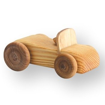 "Debresk Small Wooden Cabriolet - Convertible Car 5"" Long"