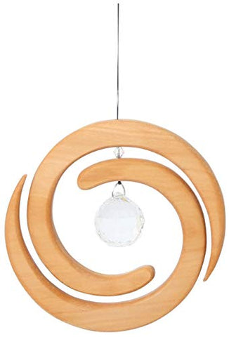 Wooden Helix Window Decoration Suncatcher