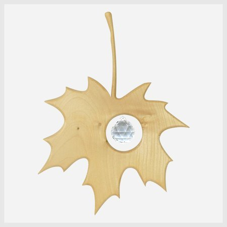 Wooden Maple Leaf Window Decoration Suncatcher