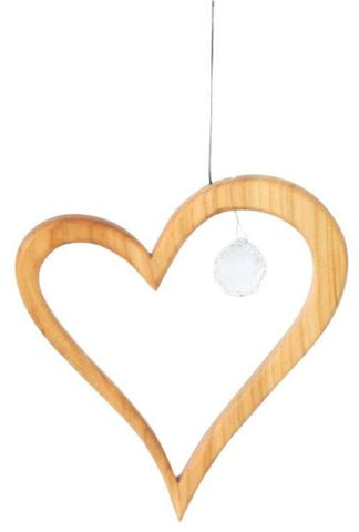Wooden Heart Suncatcher Window Decoration