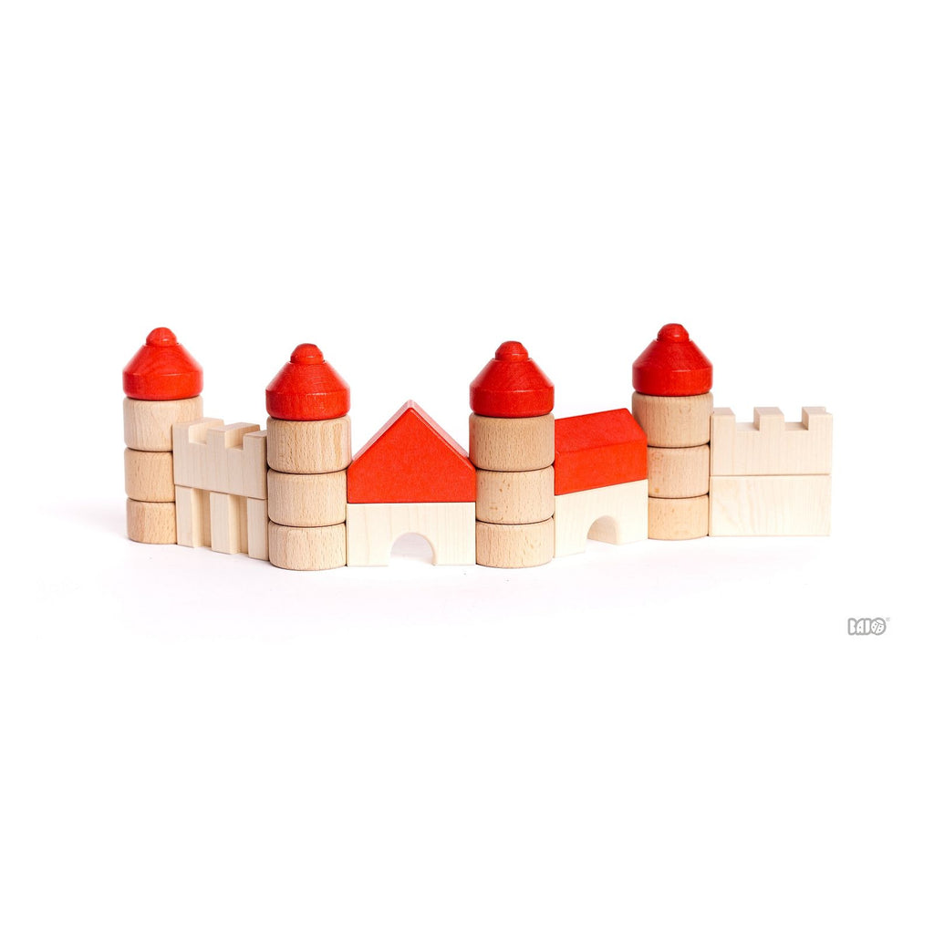 Castle Stacking Blocks by Bajo - challenge and fun natural toys - 1