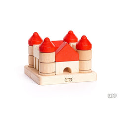 Castle Stacking Blocks by Bajo - challenge and fun natural toys - 2