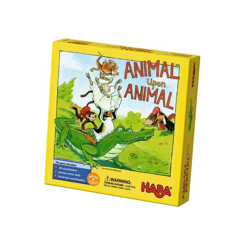 Animal upon Animal Game by Haba - challenge and fun natural toys - 1