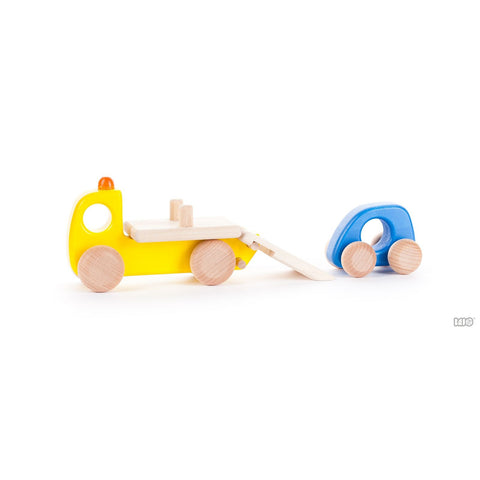 Wooden Tow Truck by Bajo - challenge and fun natural toys - 1