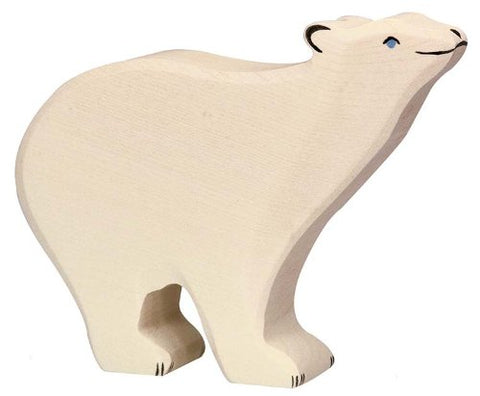 Holztiger Polar Bear Toy Figure