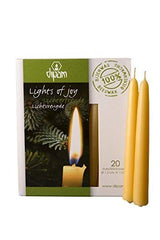 "Dipam Beeswax Lights of Joy Christmas Tree Candles 4"" (20 Pack)"