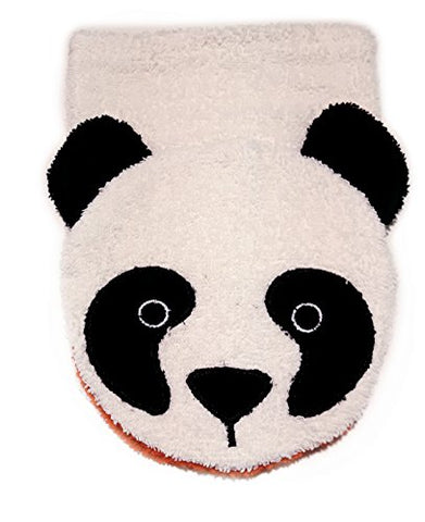 Organic Cotton, Washcloth Mitt Panda Bear, Large