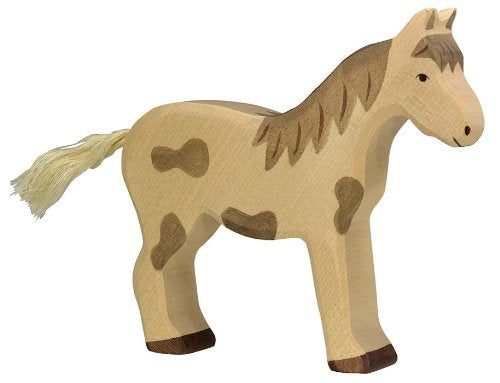 Holztiger Horse Standing Spotted Toy Figure