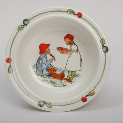 "Elsa Beskow""Peter in Blueberry Land"" Children's Bowl with Suction Cup"
