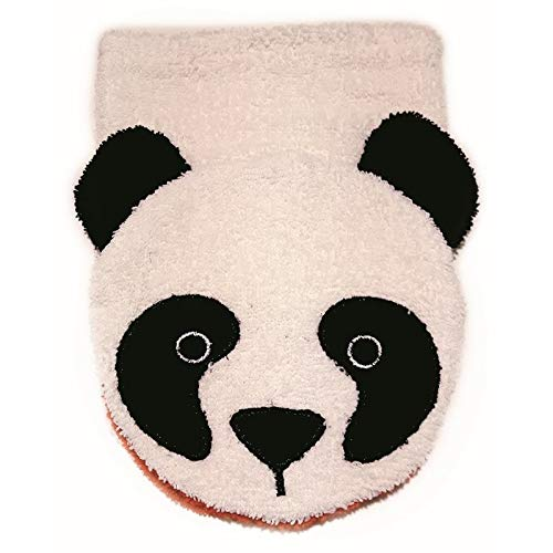 Organic Cotton, Washcloth Mitt Panda Bear, Child Size