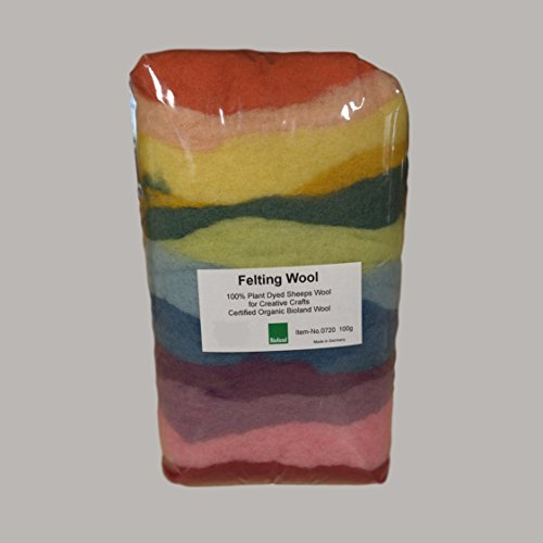 Certified Organic Bioland Plant Dyed Felting Wool-Challenge & Fun, Inc.