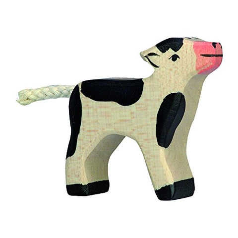 Holztiger Calf Black Toy Figure