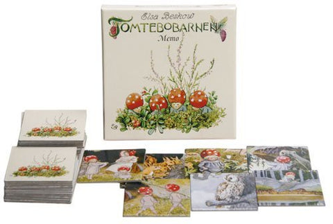 "Elsa Beskow ""Tomtebobarnen"" or Children of the Forest Memory Game (32 cards - 16 Sets) for 2-6 Players"