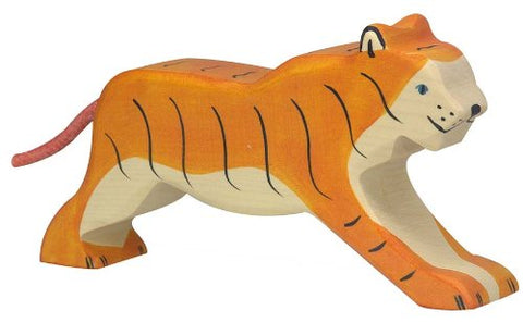 Holztiger Tiger Running Toy Figure