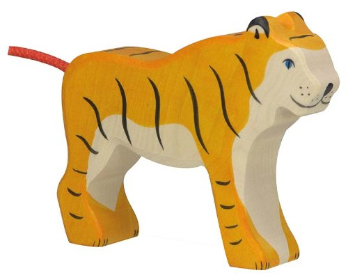 Holztiger Tiger Standing Toy Figure