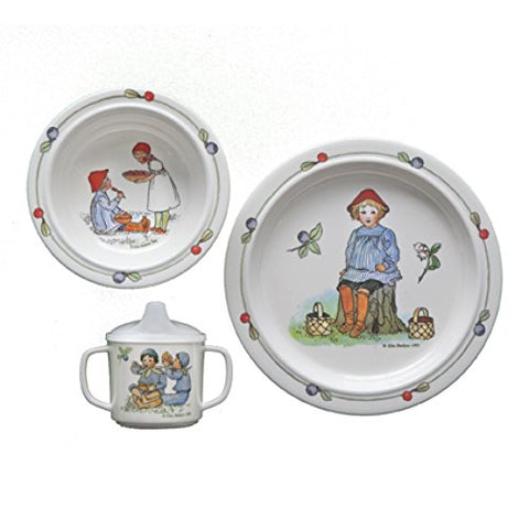 Peter in Blueberry Land Dish Set By Elsa Beskow