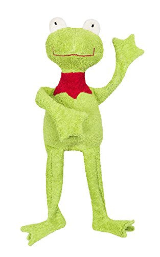 "Efie Organic Cotton Frog Filled with Sheep's Wool 11"" (Body) or 20"" (Head to Toe)"