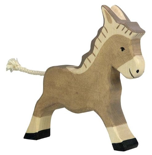 Holztiger Donkey Running Toy Figure