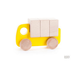 Colorful Wooden Truck with Blocks by Bajo - challenge and fun natural toys - 3