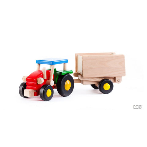 Wooden Tractor with Wagon - challenge and fun natural toys