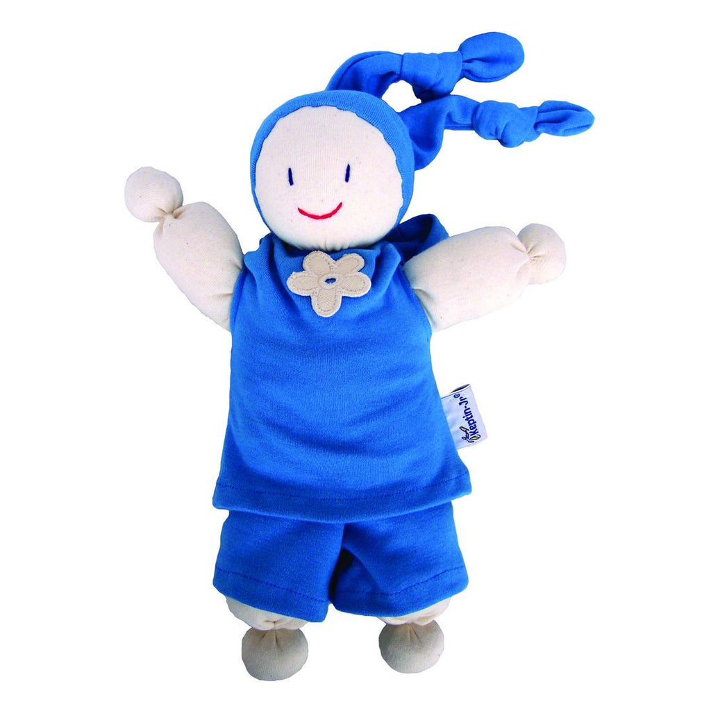 Keptin-Jr Organic Cotton Doll - Aqua - challengeandfunretail