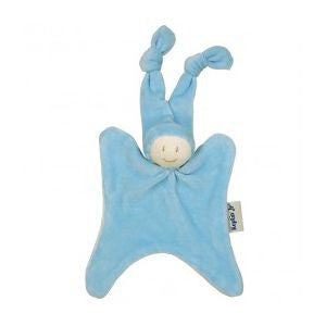 Organic Rattle Boyo Doll, Blue - challenge and fun natural toys